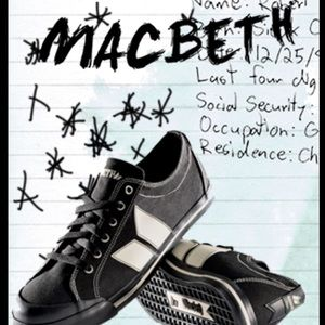 MACBETH BLACK WHITE LEATHER SKATE SHOES SZ 12